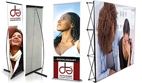 Digitalized Art L Banners, Pull up or Roll up Banner and Wall Banner